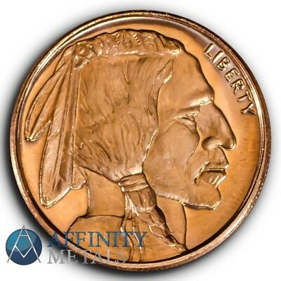 Buffalo Nickel 1/2 oz .999 Copper Bullion Round
