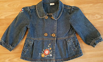 Girls Denim Jacket with embroidery detail 6-7 years