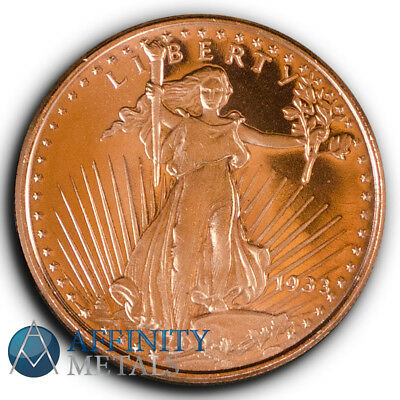 Saint Gaudens 1/2 oz .999 Copper Bullion Round