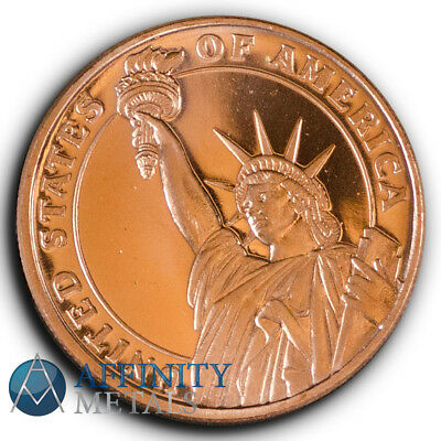 Statue of Liberty 1/2 oz .999 Copper Bullion Round