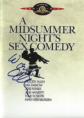 Woody Allen signed A Midsummer Night's Sex Comedy DVD - Brand New - Proof