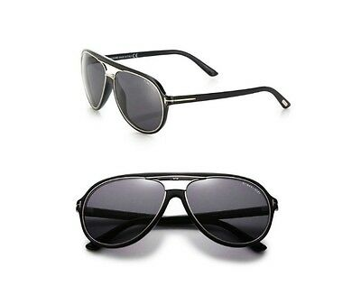 72a59f2660d Authentic Tom Ford FT0379 Smoke lens Black Frame Aviator Sunglasses Shades  New