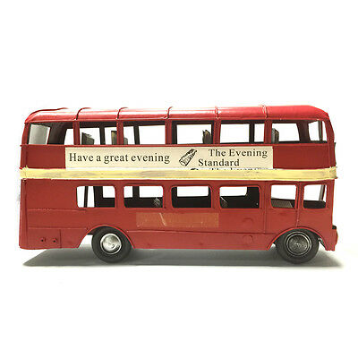 Retro Vintage Hand-crafted Double Decker Bus Models Christmas Gift/home Decor