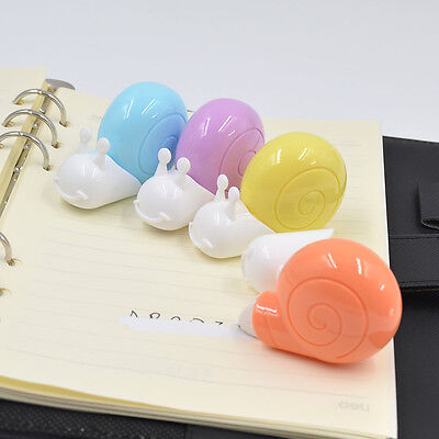 1 X Snail Roller White Out School Office Study Stationery Correction Tape Random