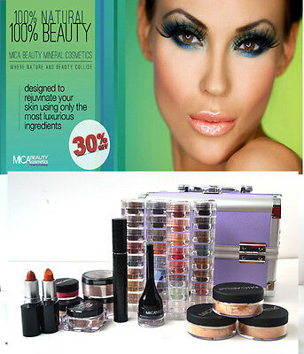 Mica Beauty Cosmetic Professional Artist Mineral Makeup Dark Skin Set