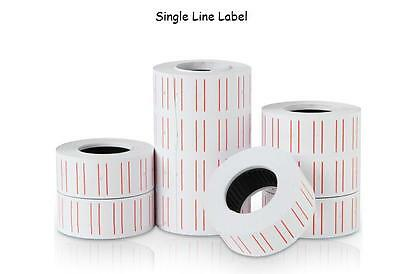 X15 For MX5500/EOS5500 Single Line Price Gun Sticker/ Label 500pcs/roll RED LINE