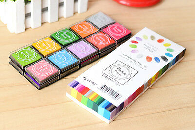 Set of 20 Different Colorful Ink Stamp Pad 4cm for DIY Album / Scrapbook