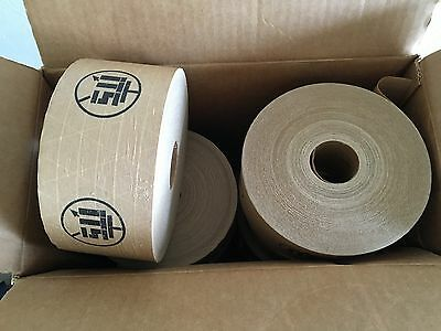 Lot of 8 rolls reinforced sealing brown tape with logo
