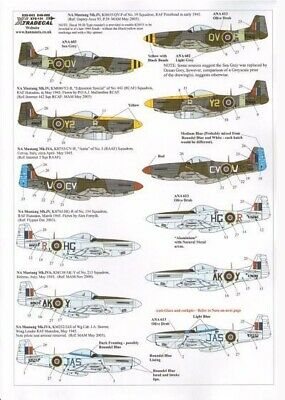 Xtradecal X32043 1/32 North-American P-51D Mustang Mk.IV Model Decals