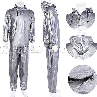 Fitness Silmming Sauna Sweat Suit Exercise Gym Workout Sport Weight Loss L-4XL
