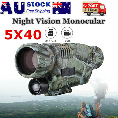 Night Vision Monocular Goggles Cam Zoom IR Security Surveillance Hunting Scope