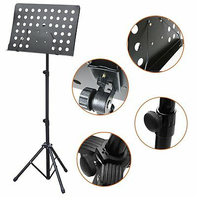 Heavy Duty Orchestral Conductor Sheet Music Stand Holder Tripod Base Foldable AU