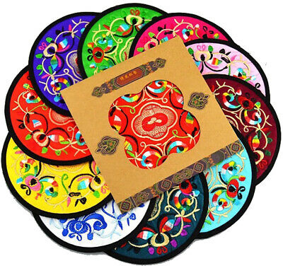 Chinese embroidery art cup mat characteristic embroidery craft insulation pad