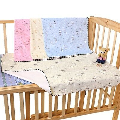 Baby Kids Changing Pad Toddler Waterproof Urine Mat Soft Absorbent Cot Bed Cover