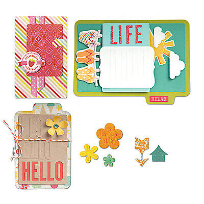 Sizzix Thin Framelits Die Set ~Work With Pocket Pages Hello Life