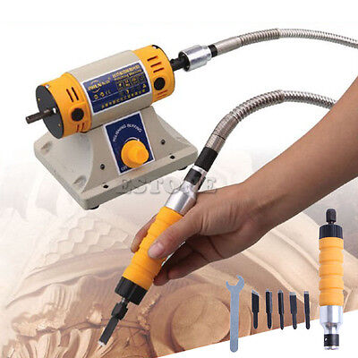 Electric Carving Machine Woodworking Carving Chisel Tool with 5 Carving Blades
