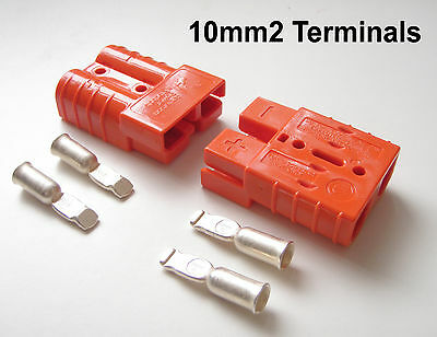 PAIR ANDERSON 175 AMP PLUG 16mm CABLE TERMINALS RACE RALLY CAR SLAVE JUMP START