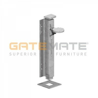 "Gatemate 8"" Foot Bolt - Epoxy Black/Zinc Plated"