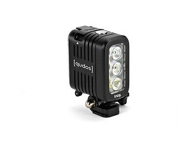 Knog Qudos Action Light Black Fits GoPro Sony Action Cam 400 Lumens RRP £89.99