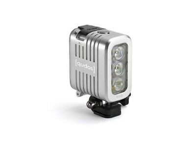 Knog Qudos Action Light Silver Fits GoPro Sony Action Cam 400 Lumens RRP £89.99