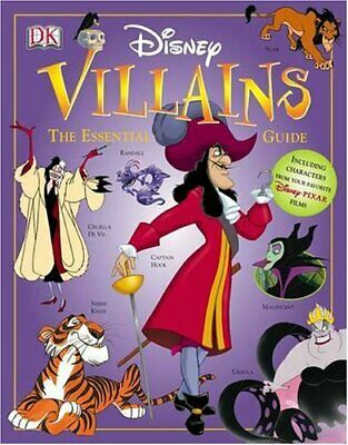 Disney Villains: The Essential Guide, Dakin, Glenn Hardback Book The Cheap Fast