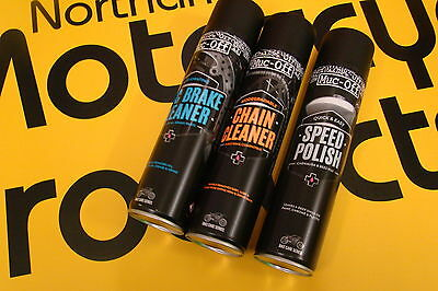 Muc-Off Motorcycle Pack Silicone Spray Degreaser Dry Chain Lube Free Post
