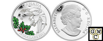 2011 'Little Skaters' Proof $10 Silver Coin .9999 Fine (NT) (12904) OOAK