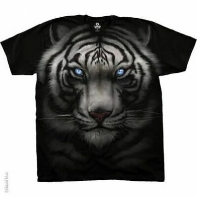 Majestic White Tiger Jungle Animal Nature Blue Eyes Fantasy T Tee Shirt S-6Xl