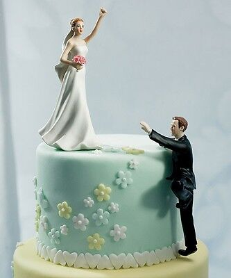 Climbing Groom Victorious Bride Wedding Cake Topper Mix & Match Reception Gift