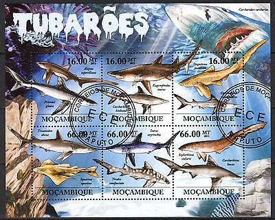 Mozambique 2011 Fishes Sharks Sheet of 6 used