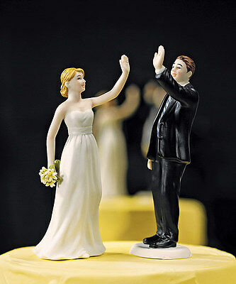 gamer addict funny wedding cake topper bride and groom gta five