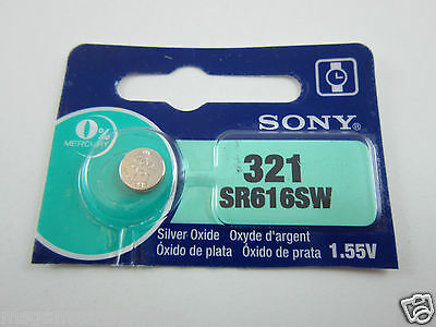 Sony 1x SR616SW 321 - 1.55V Silver Oxide Button Cell Watch Battery Batteries NEW