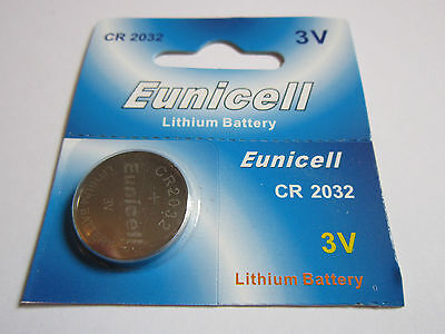 1x Eunicell CR2032 CR 2032 - 3V Lithium Button Cell Battery Batteries - NEW