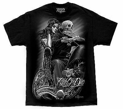 Authentic David Gonzales Dga Ride Or Die Biker Babe Skull Outlaw T Shirt M-5Xl