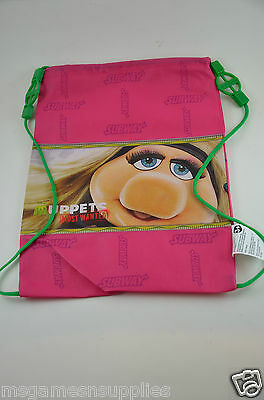 Disney Muppets Most Wanted * Miss Piggy * Kids Childs Tote Bag / Backpack - NEW