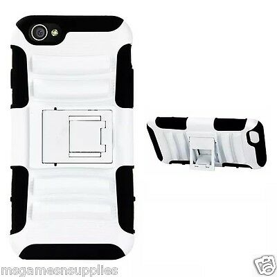 """White STAND KICKSTAND DEFENDER Armor Shockproof  3D Case for iPhone 6 4.7"""" 4.7"""