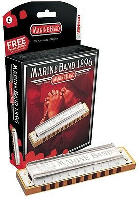 Hohner Marine Band Harmonica, Key of G,  Brand New in Box