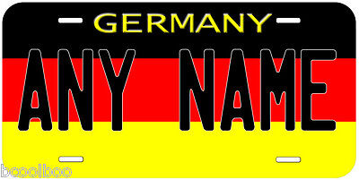 Germany Flag Aluminum Novelty Car License Plate
