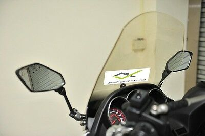 Kymco Downtown 300 Mounted Hexagonal Front Mirrors (Carbon / Matte)