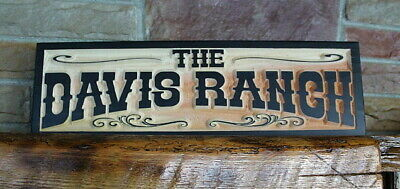 Western Home Decor Rustic Old West Style Sign Personalized Custom Carved Wood
