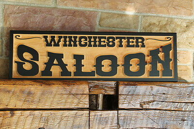 Custom Old West Sign Wood Carved Personalized Rustic Western Decor Wall Art