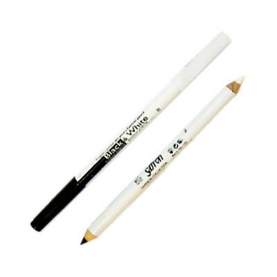 Saffron Black and White Kohl Eyeliner Pencil, Eye Makeup