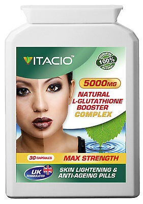 Glutathione Booster Complex 5000mg Natural Skin Lightening Whitening Anti-Ageing