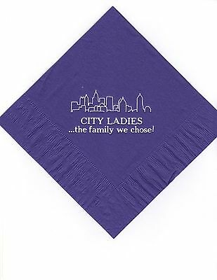 CITY SKY LINE LOGO 50 Personalized printed LUNCHEON DINNER napkins