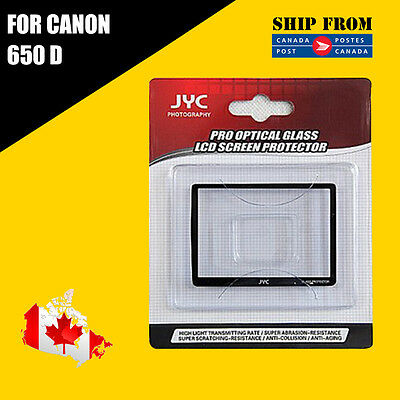 JYC Pro LCD Screen GLASS Protector Cover For Canon 650D
