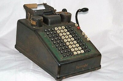 Antique 1900s Burroughs Adding Machine