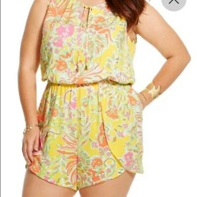 99c0913e706 NWT! LILLY PULITZER for Target Challis Romper Happy Place Size 1X ...