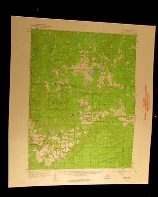 Glennie Michigan 1961 vintage USGS Topographical chart map