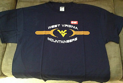 BrandNew Licenced Baseball T-Shirts West Virginia Mountaineers blue Extra Large