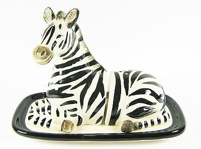 Zebra on Base Ceramic Salt & Pepper Shakers